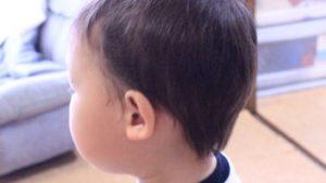 バリカンでもうじき2歳の息子の頭を刈ってみた